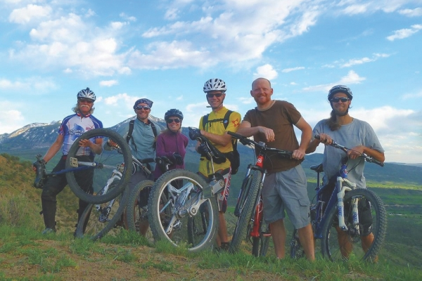 great trails and group rides on Jumbo Mountain
