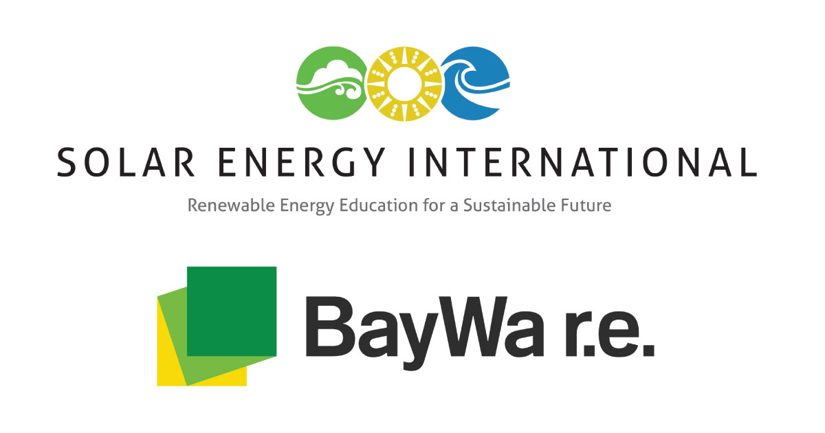 Solar Energy International (SEI) and BayWa r.e. Solar Systems Invest in Industry's Future, Award Solar Training Scholarships